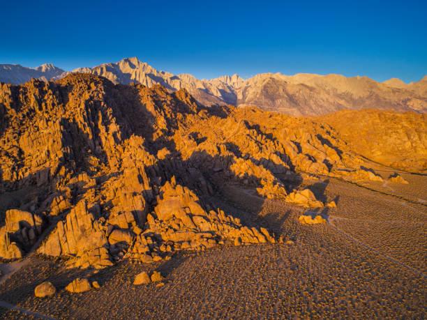 Alabama Hills und Sierra Nevada Berge – Foto
