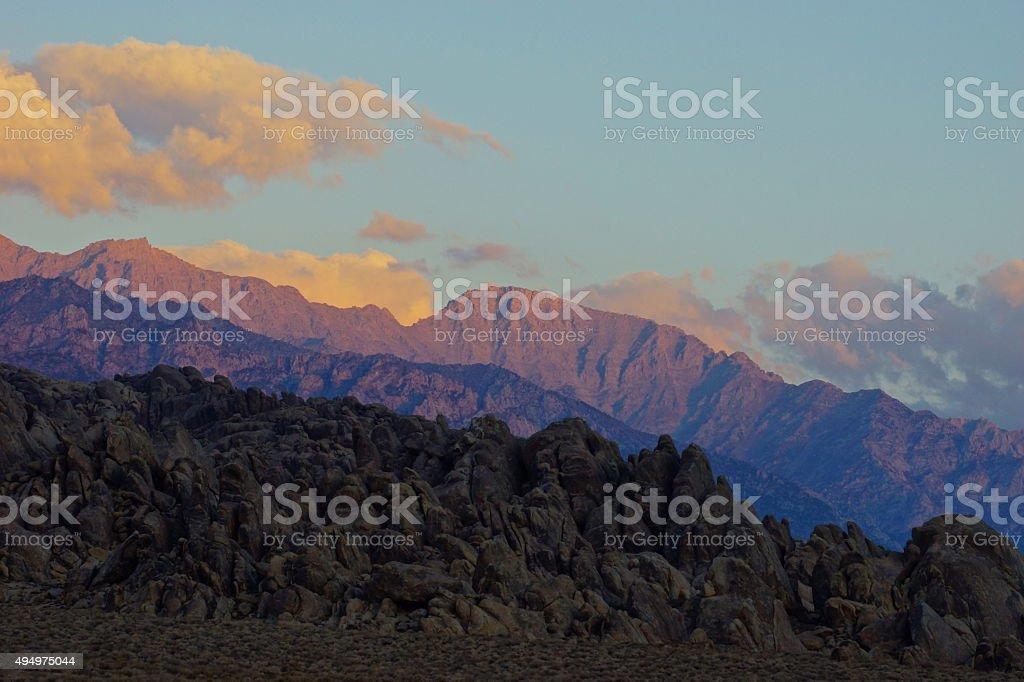 Alabama Hills Dawn stock photo
