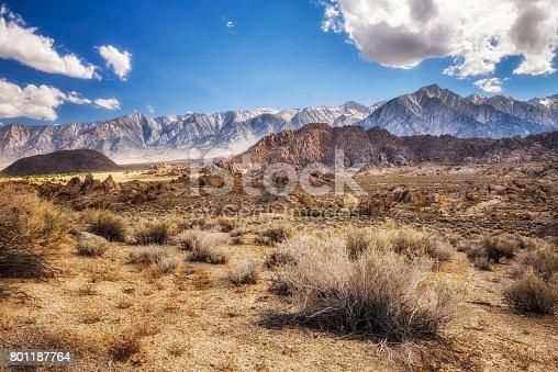 Alabama Hills in Sierra Nevada Mountains near Lone Pine, California, USA