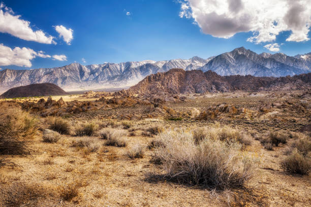 alabama hills in sierra nevada mountains , california, usa - desert stock pictures, royalty-free photos & images
