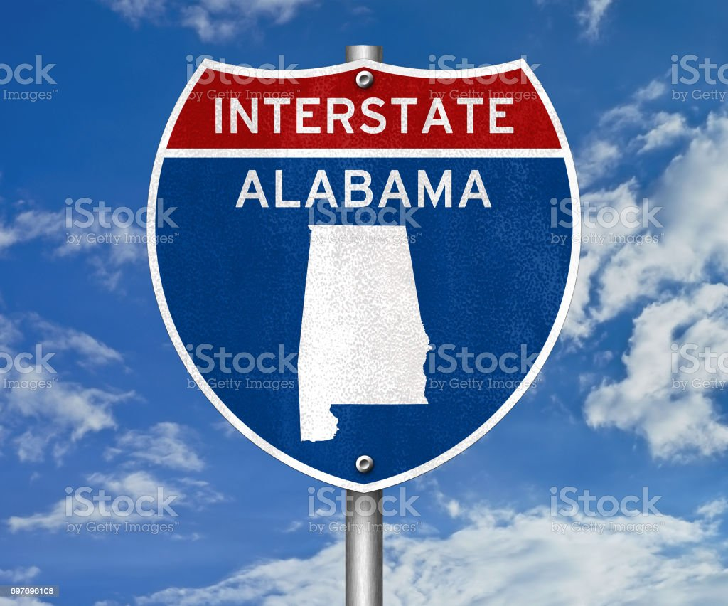 Alabama - interstate sign stock photo