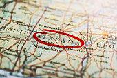 istock Alabama Marked on Map 534478904