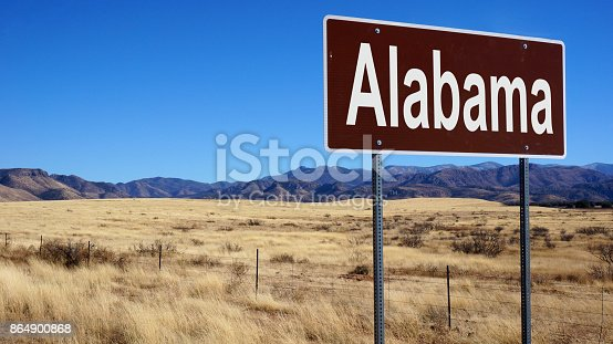 istock Alabama road sign 864900868