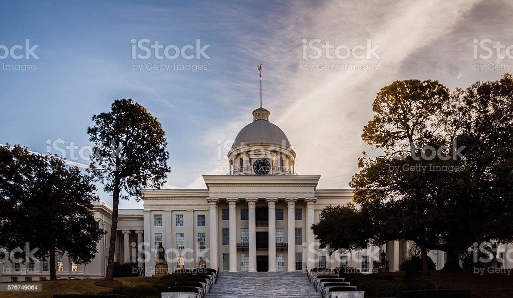 Alabama State Capital Building stock photo