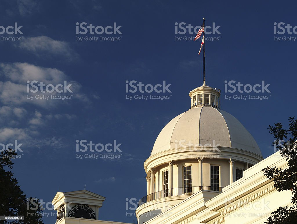 Alabama State Capitol dome royalty-free stock photo