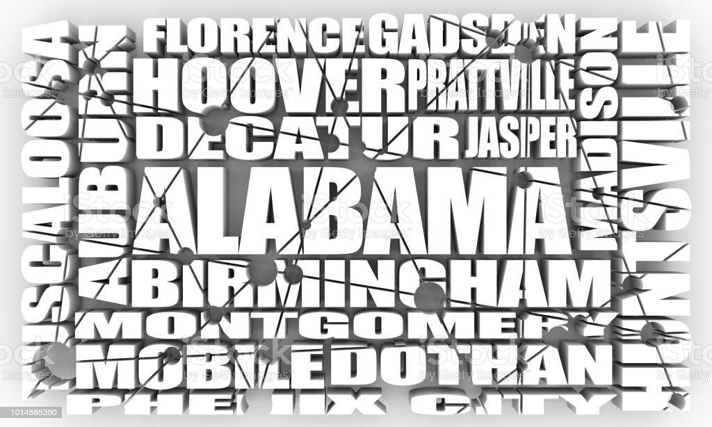 Alabama state cities stock photo