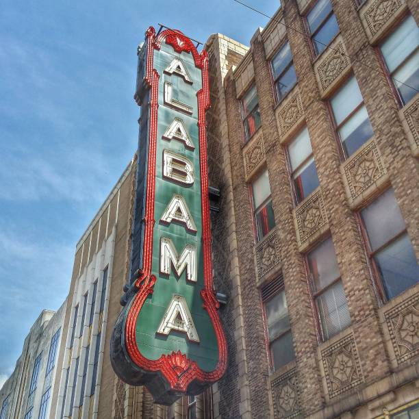 Alabama Theatre on April 29, 2014 in Birmingham, Alabama stock photo