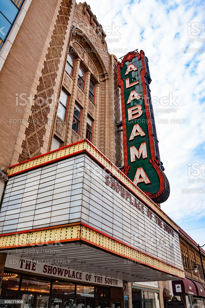 Alabama Theatre stock photo