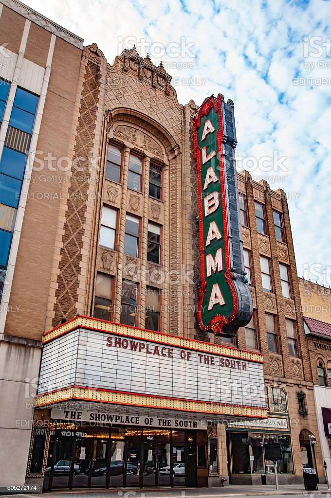 Alabama Theatre stock photo