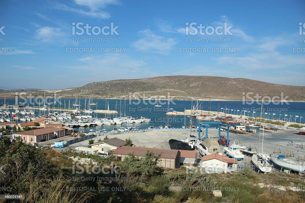 Alacati marina ,Izmir, Turkey royalty-free stock photo