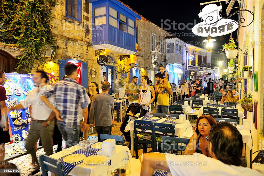 Alacati Nightlife Stock Photo Download Image Now Istock