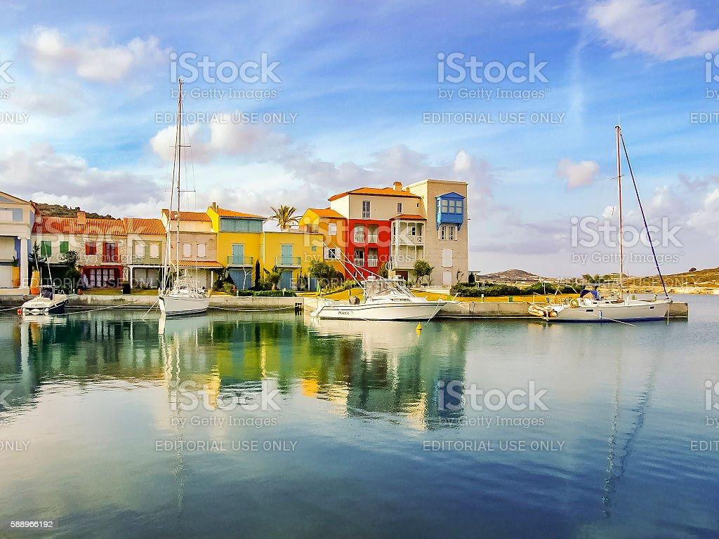Alacati Port in Turkey stock photo