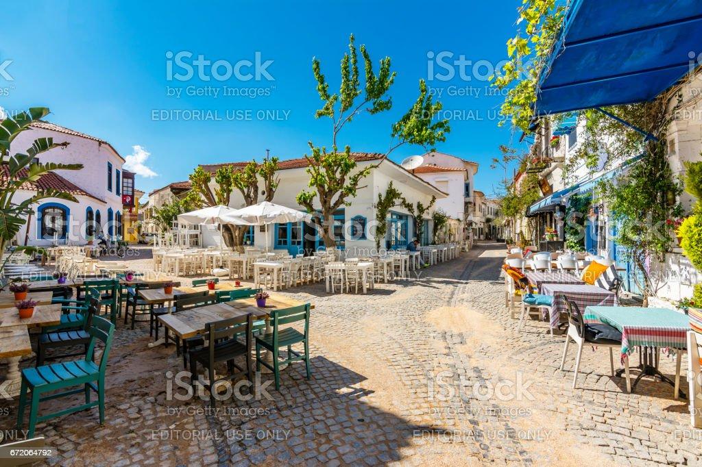 Alacati Street view in the Turkey foto
