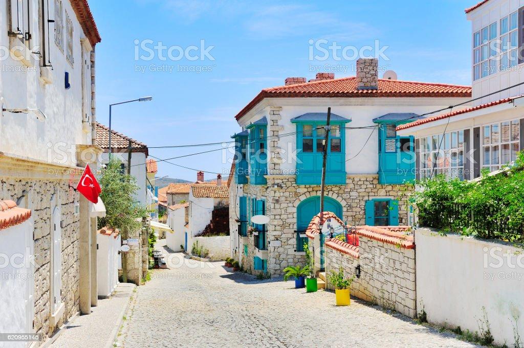 Alacati village,Cesme,Izmir,Aegean coast of Turkey stock photo