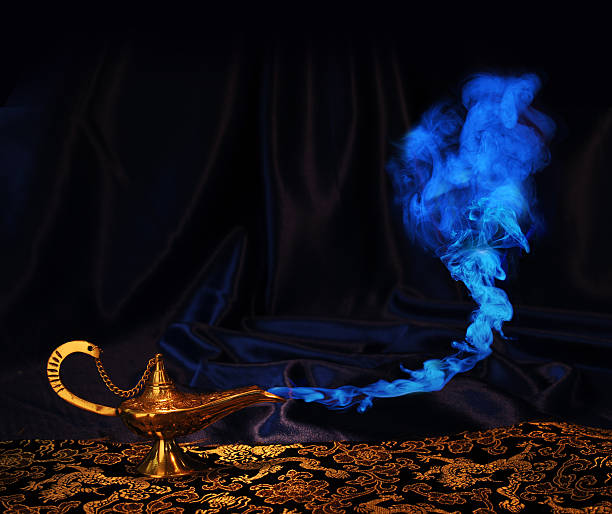 Aladdin lamp without genie face stock photo