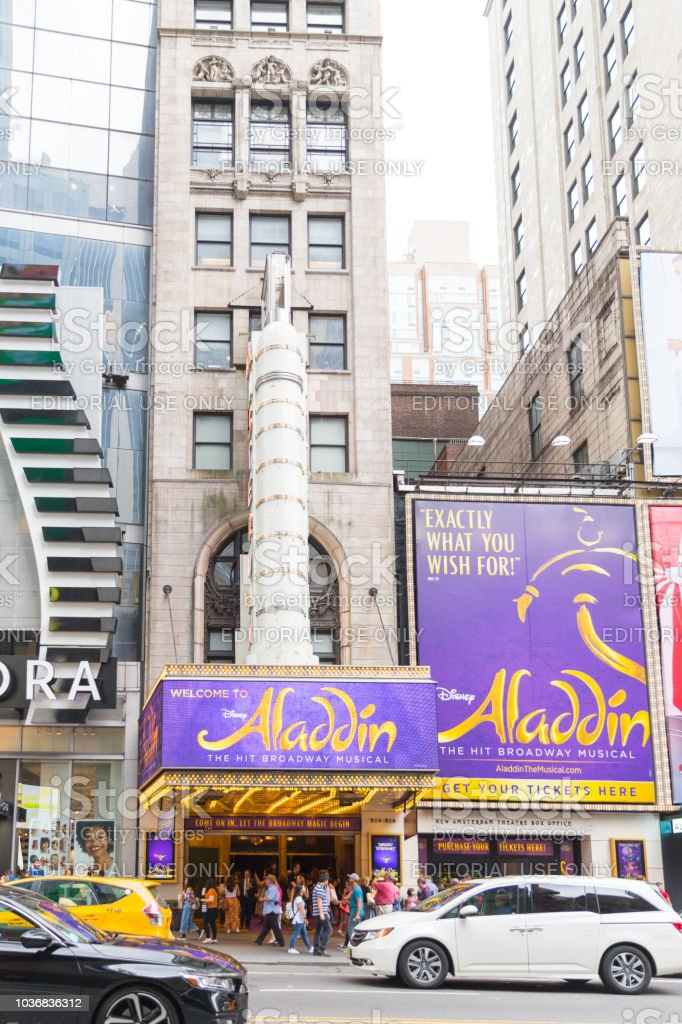 Aladdin the Musical in New York стоковое фото