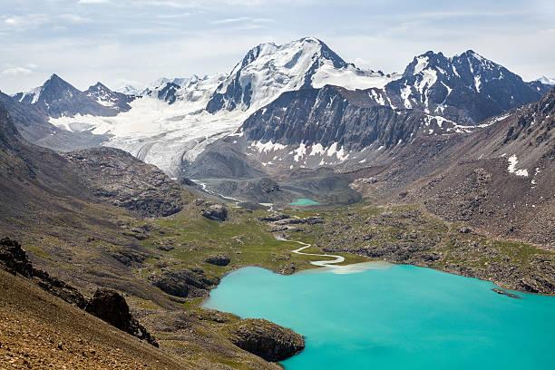 Ala-Kul lake in Tien Shan mountains stock photo