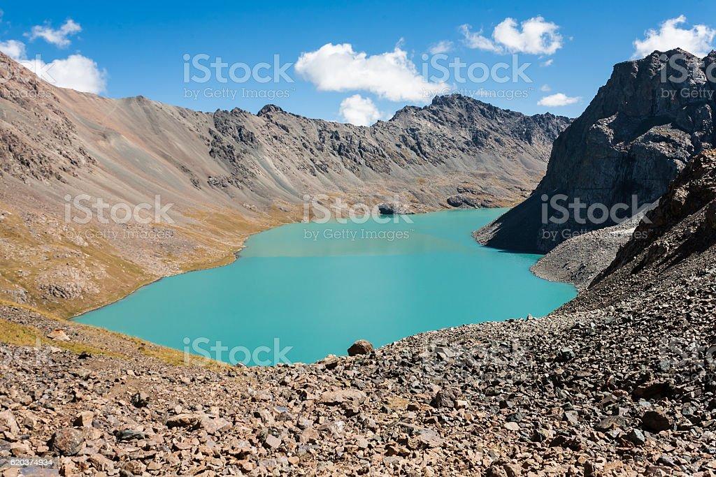 Ala-Kul lake view. zbiór zdjęć royalty-free