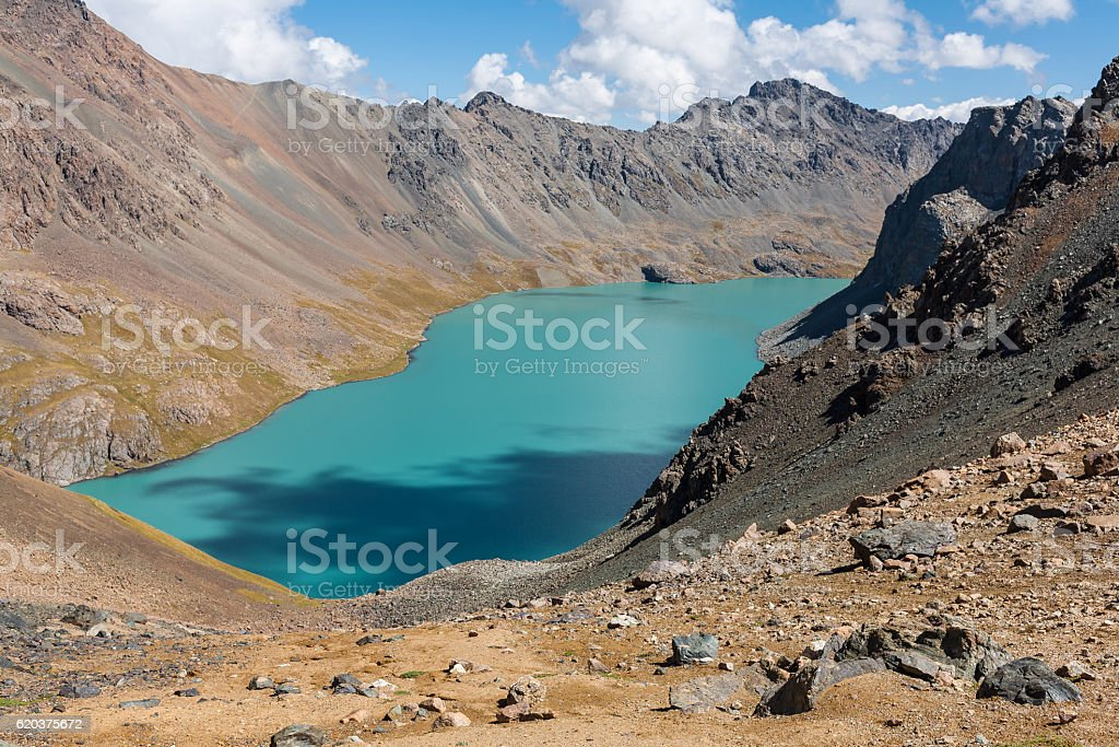 Ala-Kul lake view. foto de stock royalty-free