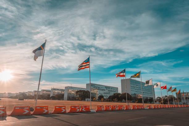 Alameda dos Estados, Brasília, Brasil. - foto de acervo