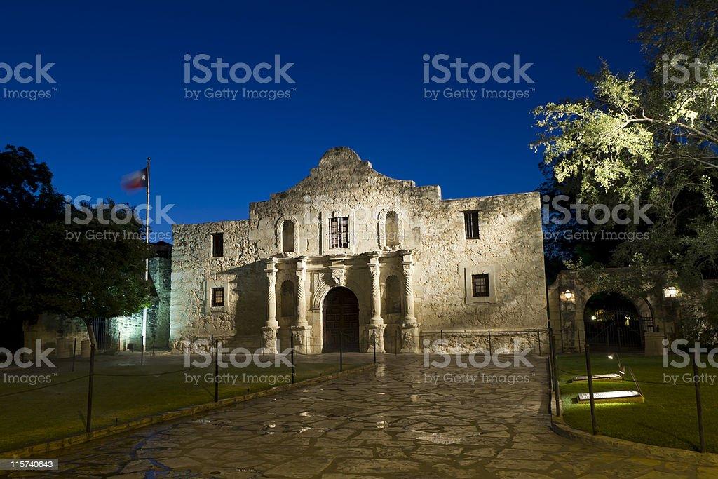 Alamo Morning - wide angle royalty-free stock photo
