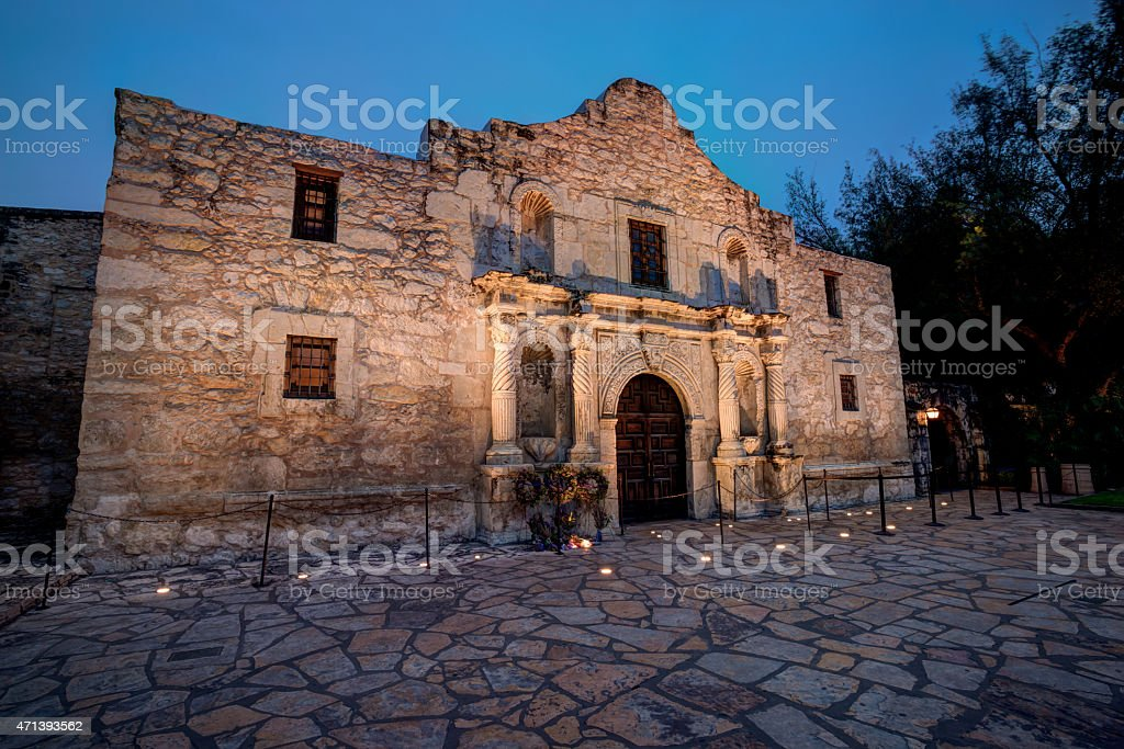HDR Alamo stock photo