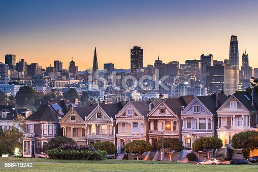 San Francisco - California, Alamo Square, Urban Skyline, City, Famous Place