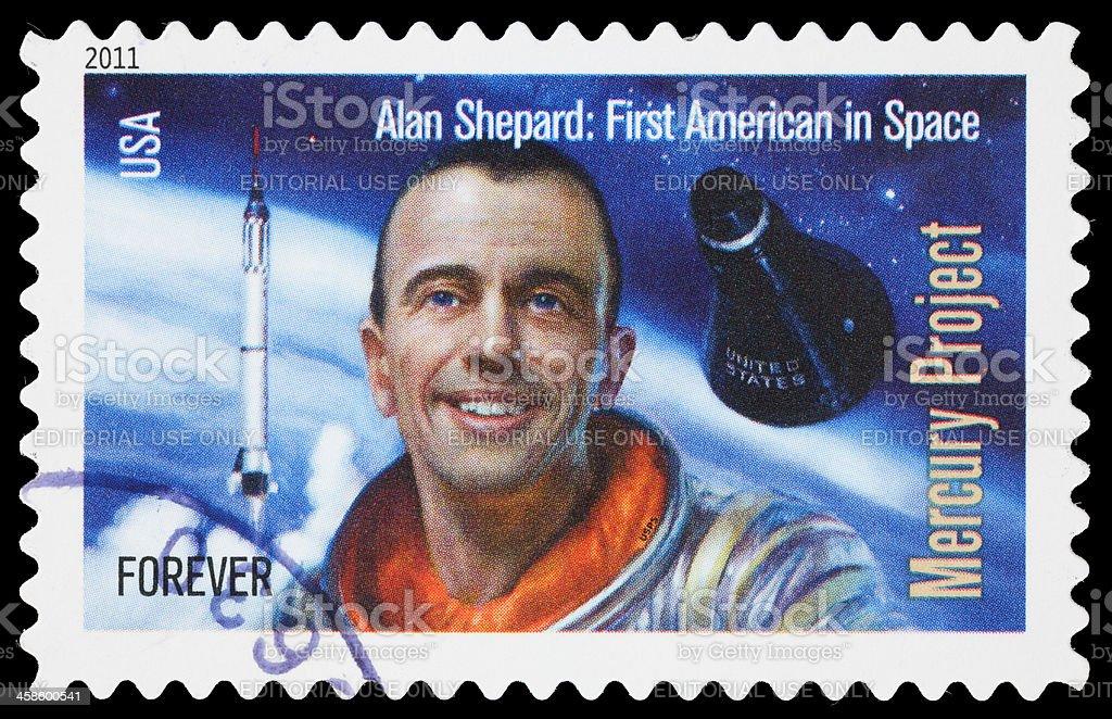 USA Alan Shepard postage stamp stock photo