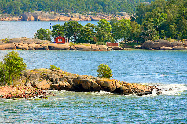 Aland archipelago in summer stock photo
