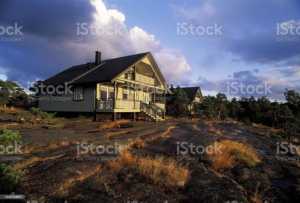Aland cottage stock photo