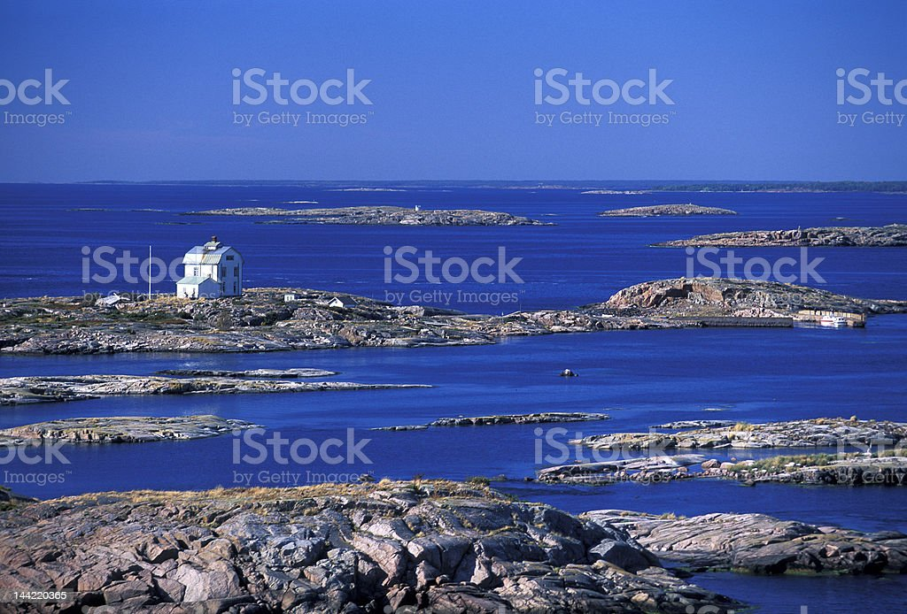 Aland island archipelago stock photo