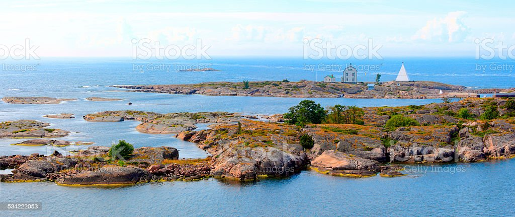 Aland Islands archipelago, Kobba Klintar, panorama. stock photo