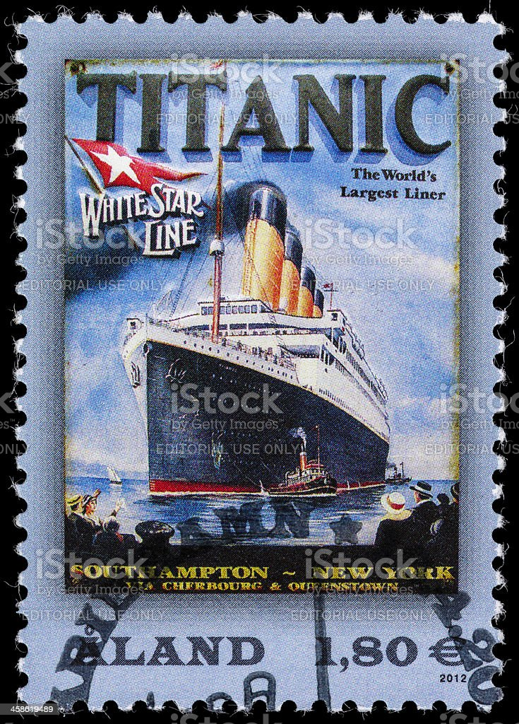Aland Titanic postage stamp royalty-free stock photo