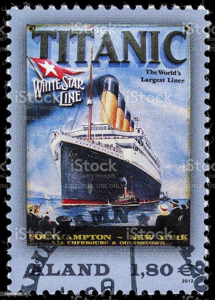 Aland Titanic postage stamp stock photo