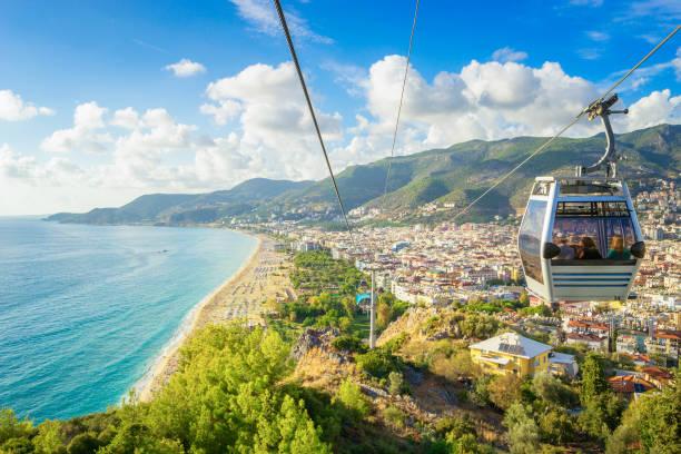 Alanya Cityscape from a funicular, Turkey stock photo