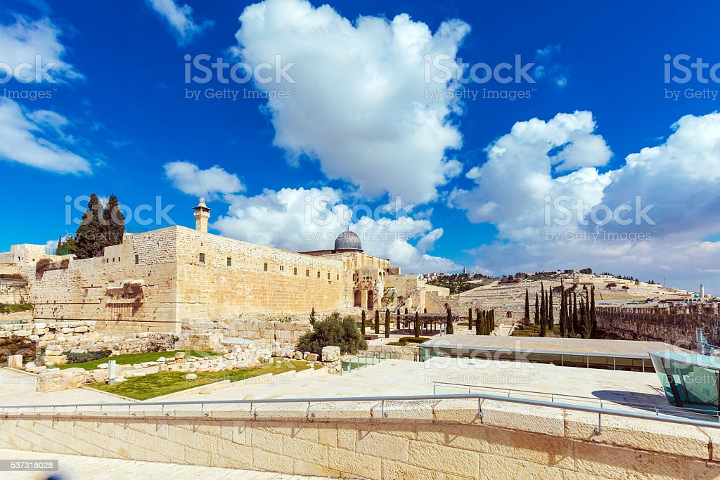 Al-Aqsa Mosque at Day, Jerusalem, Israel stock photo