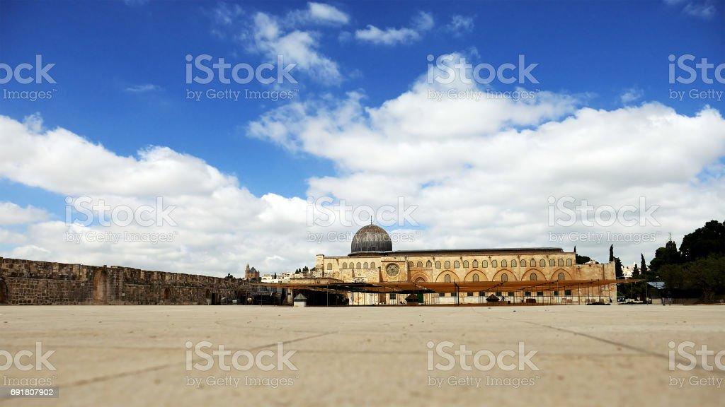 Al-Aqsa Mosque in Jerusalem stock photo