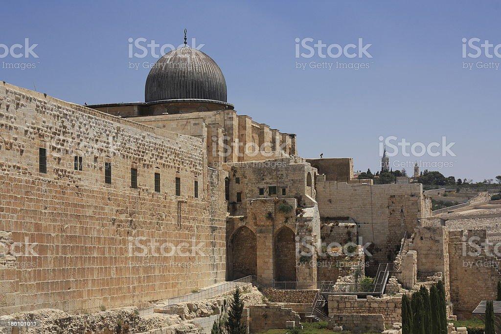 Al-Aqsa Mosque - Jerusalem royalty-free stock photo