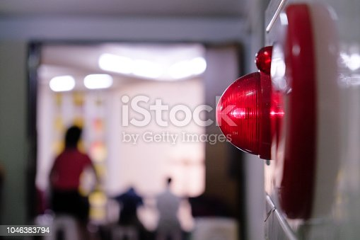 istock Alarm bells and warning lights for avoiding fire. In public areas such as the MRT, railway stations, high-speed rail, and airports.In Asia. 1046383794