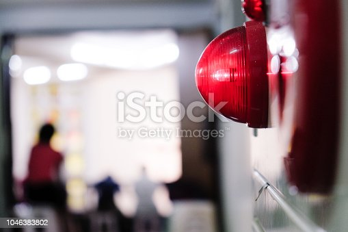 istock Alarm bells and warning lights for avoiding fire. In public areas such as the MRT, railway stations, high-speed rail, and airports.In Asia. 1046383802