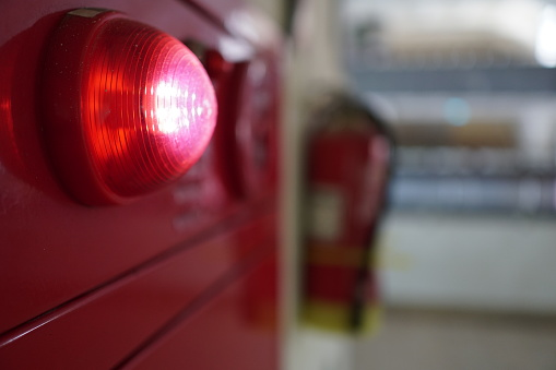 Alarm Bells And Warning Lights For Avoiding Fire Stock Photo - Download Image Now