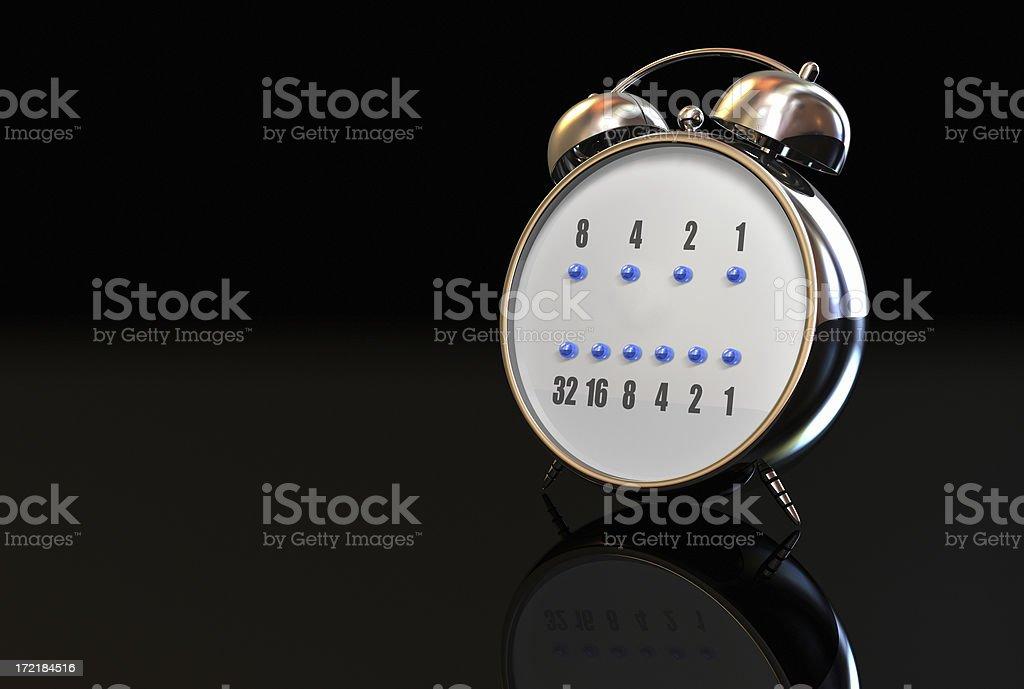 Alarm Binary Clock 001 royalty-free stock photo