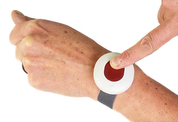 alarm button stock photo