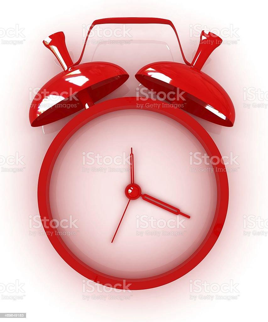 Alarm clock. 3D icon stock photo