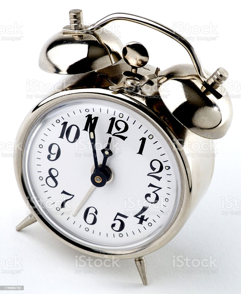 alarm clock 5 to 12 royalty-free stock photo