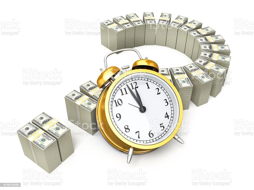 Alarm Clock and $100 banknotes foto