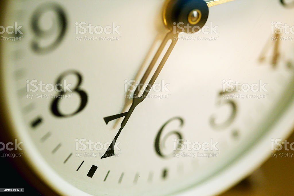 Alarm clock closeup stock photo