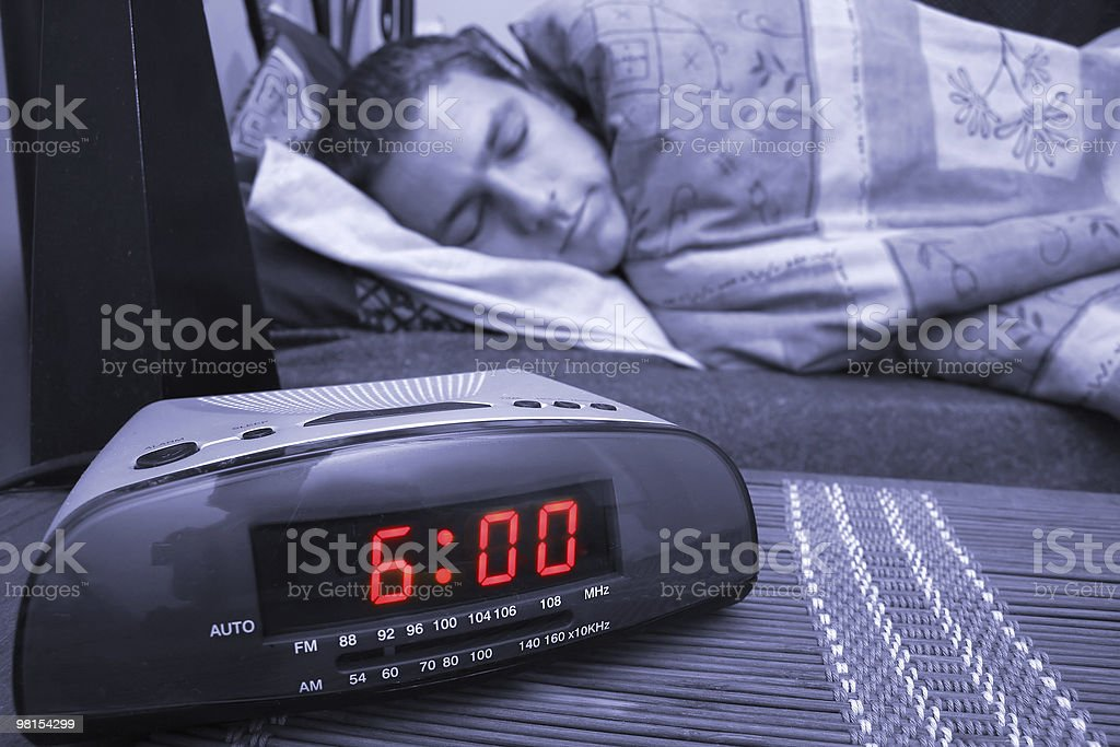 Alarm clock guy royalty-free stock photo