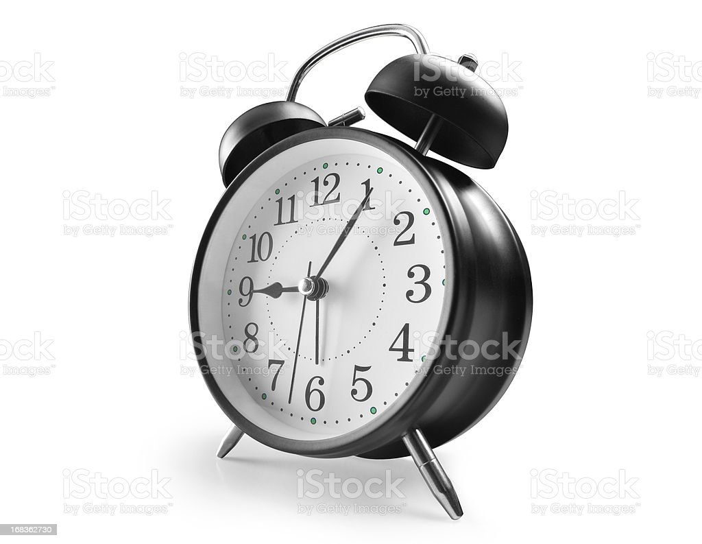 Alarm clock in black with numbers royalty-free stock photo