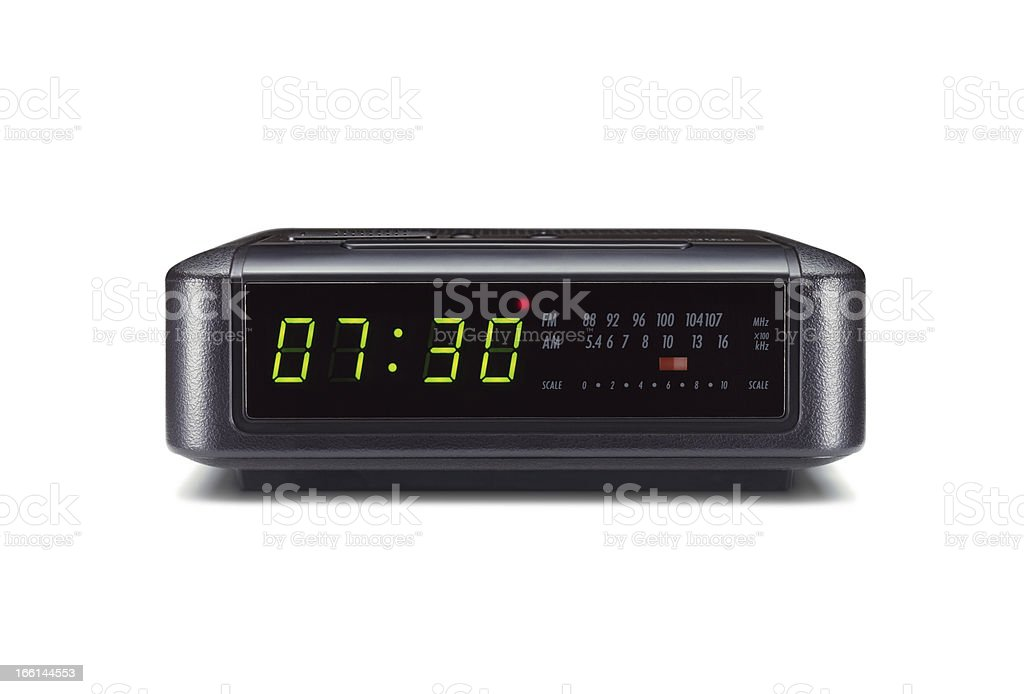 Alarm clock isolated on white background​​​ foto